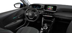 Intérieur de la Peugeot 208 Allure - 2/3